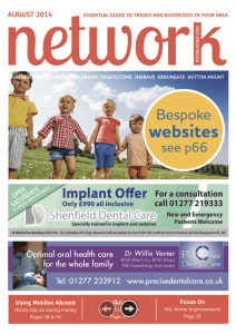 Network magazine August 2014 front cover