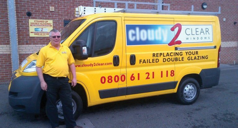 Cloudy2Clear director with company van