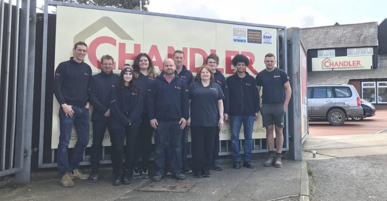 Chandler Materials staff outside premises