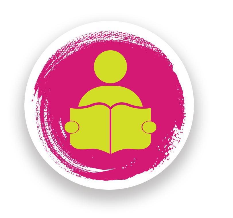 Reading magazine symbol